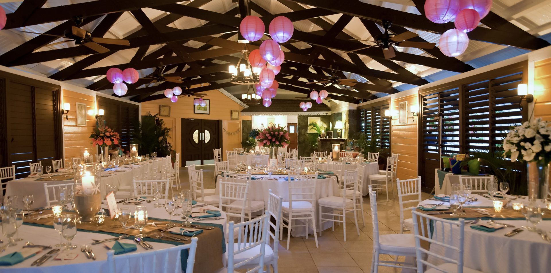 wedding banquet in St Lucia luxury resort