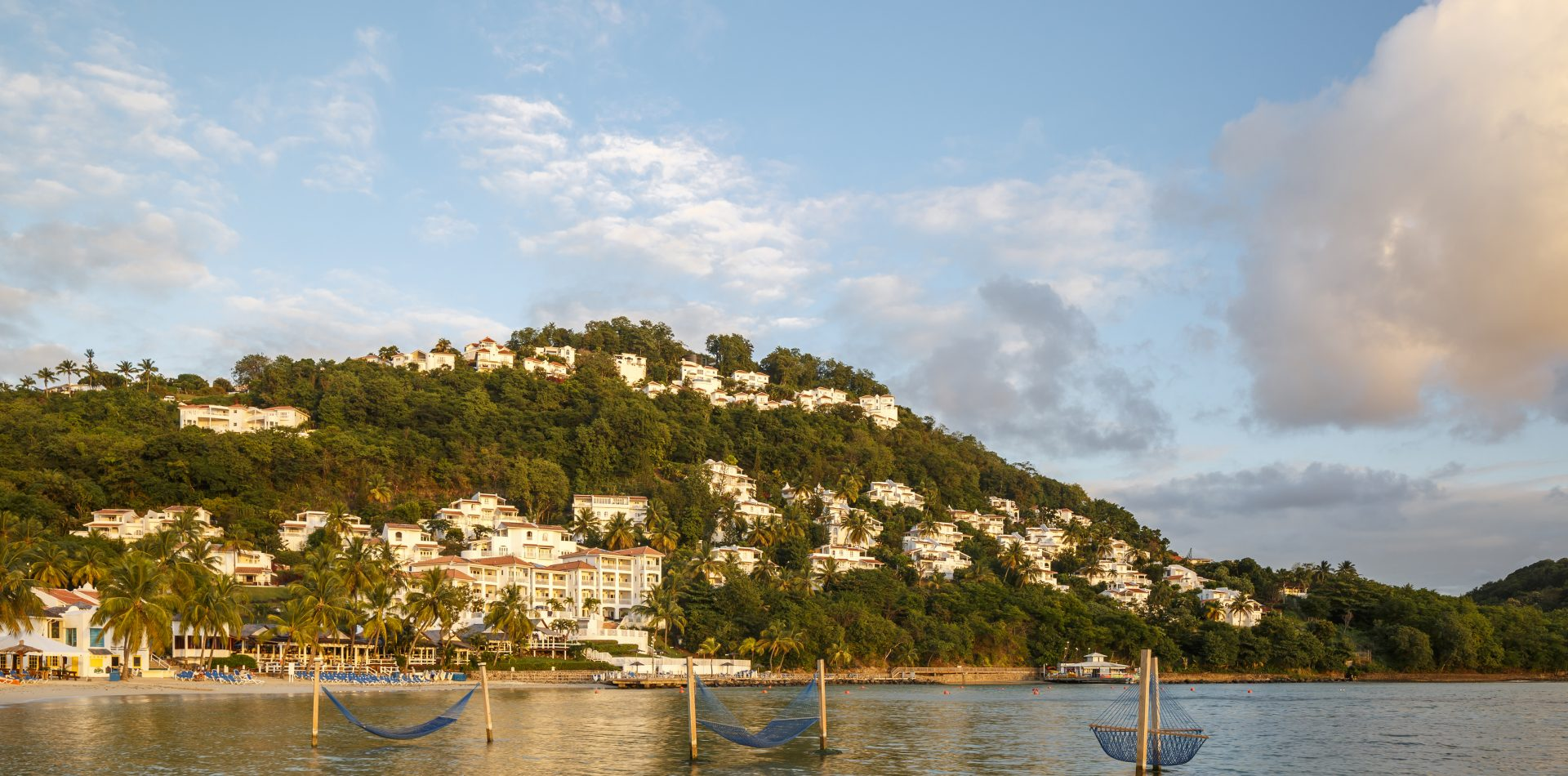 views of St Lucia island from the water