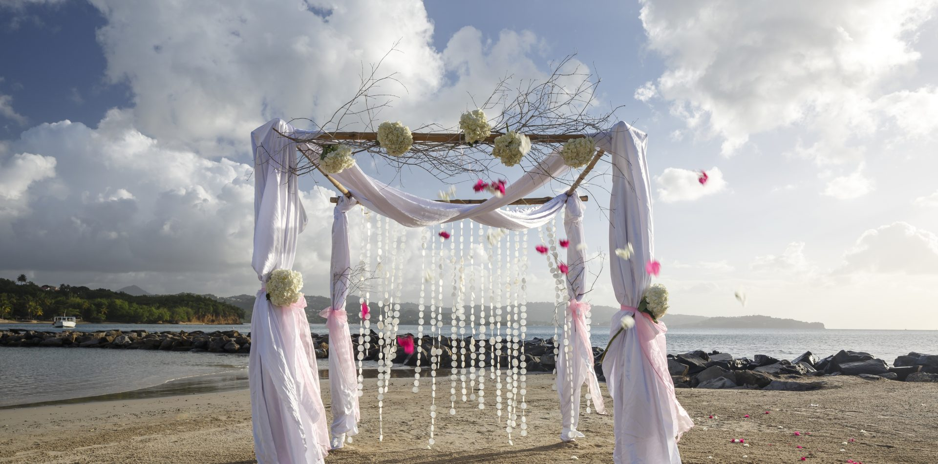 St Lucia outdoor wedding space