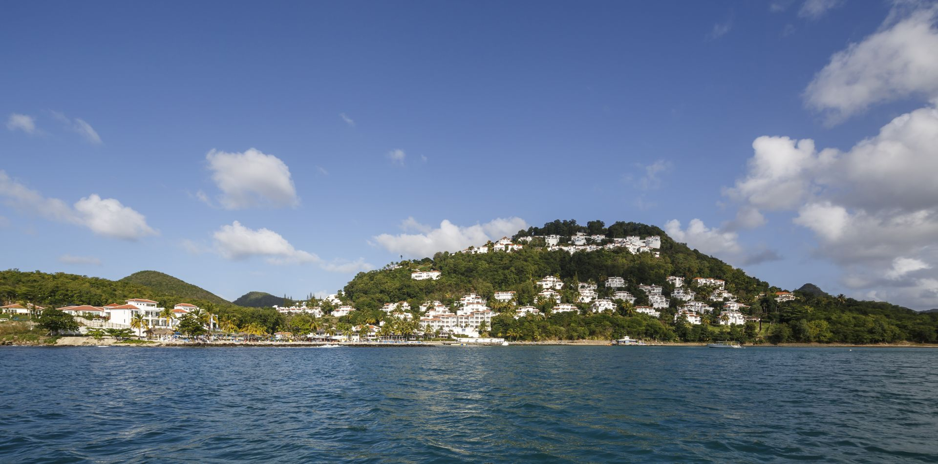 view of St. Lucia from the water