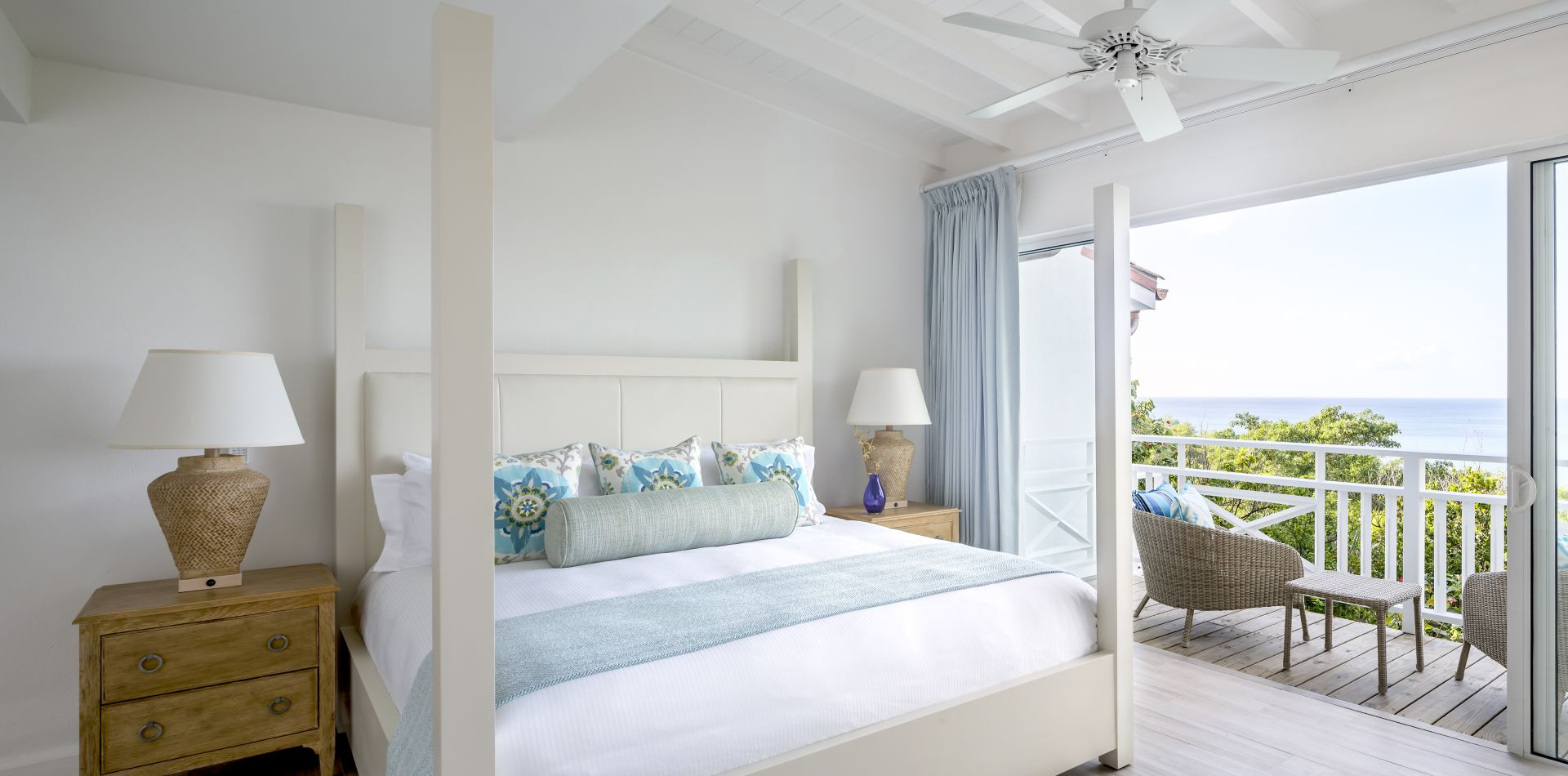 St Lucia romantic resort bedroom with balcony