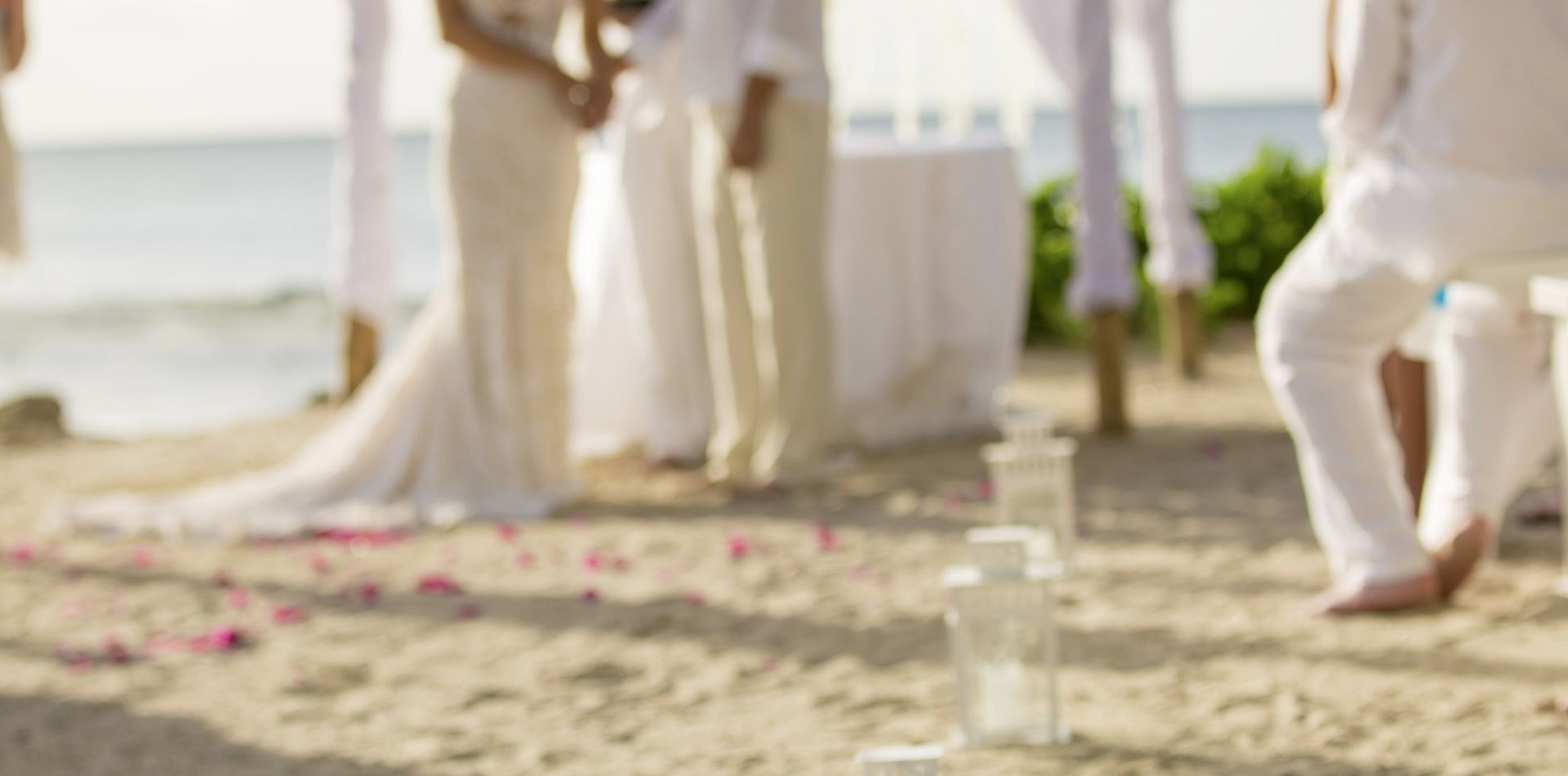 wedding ceremony at St Lucia beach resort