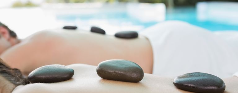 stone massage at Windjammer Landing Villa Beach Resort Spa