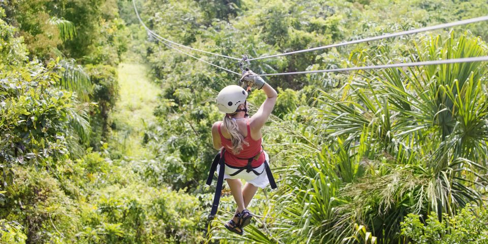 ziplining activities at St lucia beach resort