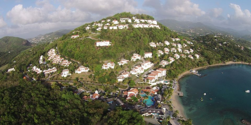 aerial view of st lucia